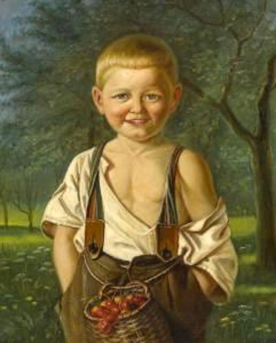 Boy With Cherries Basket