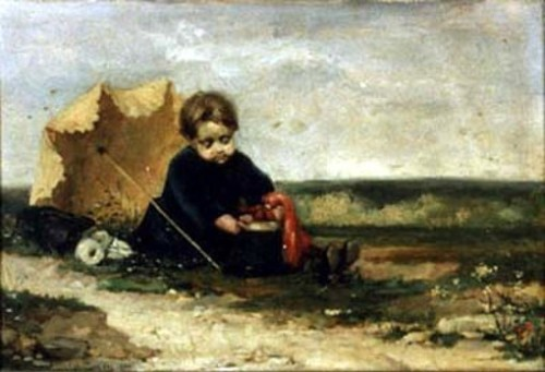 Boy With Umbrella And Shako