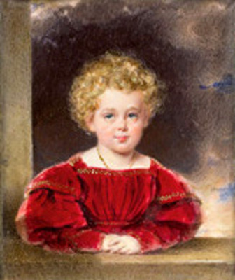 Child Portrait Of Franz Joseph I In Purple Dress