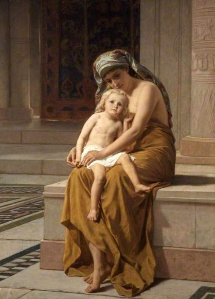 Egyptian Woman And Child