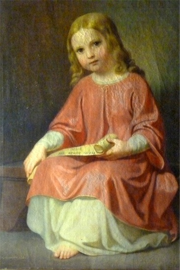 Girl With Scroll
