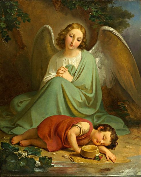 Guardian Angel Protecting The Sleep Of A Child