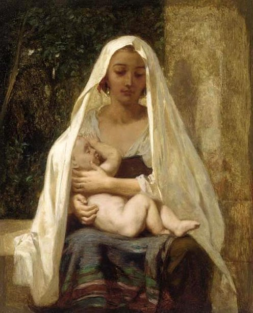 Italian Woman And Child