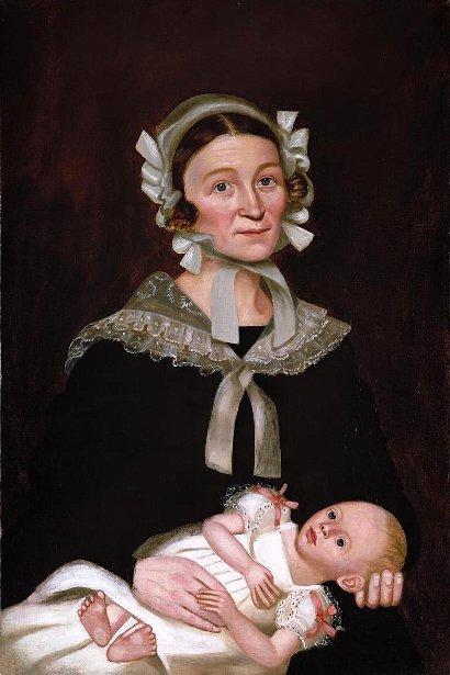 Melinda Prouty Lamson And Son, Nathaniel Lamson