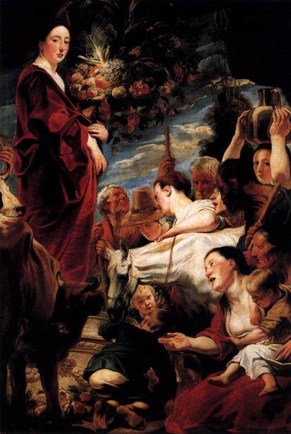 Offering To Ceres, Goddess Of Harvest