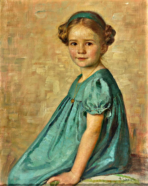 Portrait Of A Little Girl Looking Directly At Viewer