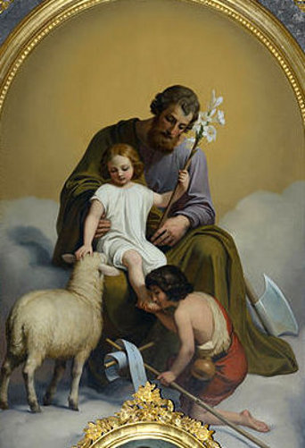 Saint Joseph And Jesus With John The Baptist