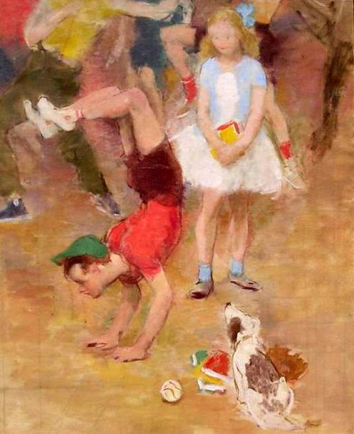 Study of Playing Children (Artist's Grandchildren)