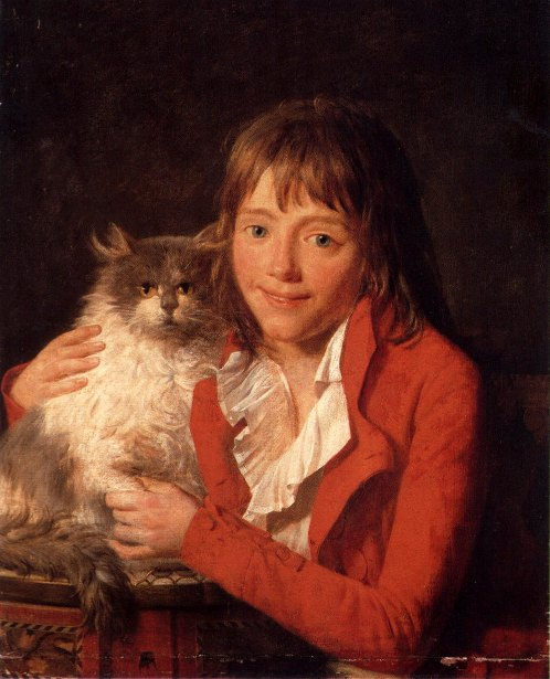 The Artist's Son, Ambroise Louis, With His Favorite Pet