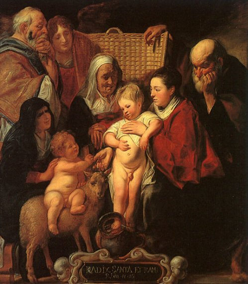 The Holy Family With St. Anne, The Young Baptist And His Parents