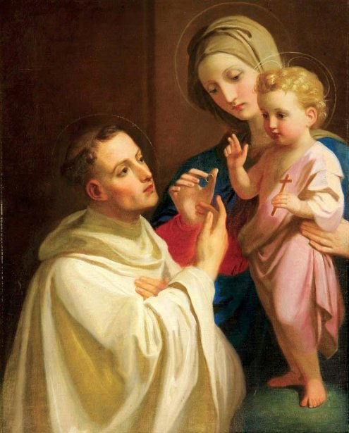 The Virgin And The Child With St. Bernard