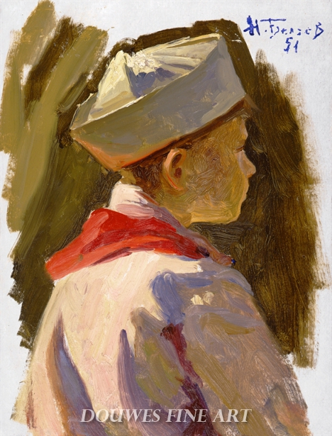 A Boy With A Paper Hat