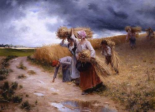 A l'approche du grain