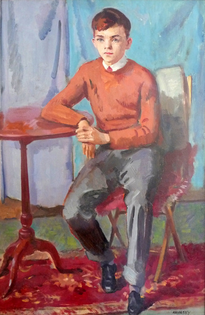 Boy Seated By A Table