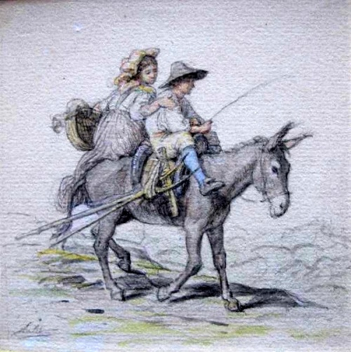 Children On A Mule