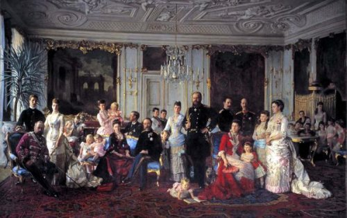 Christian IX of Denmark With His Family
