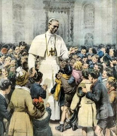 Cinquantamila fanciulli romani intorno al Papa (Fifty Thousand Roman Children Around  Pope Pius XII)