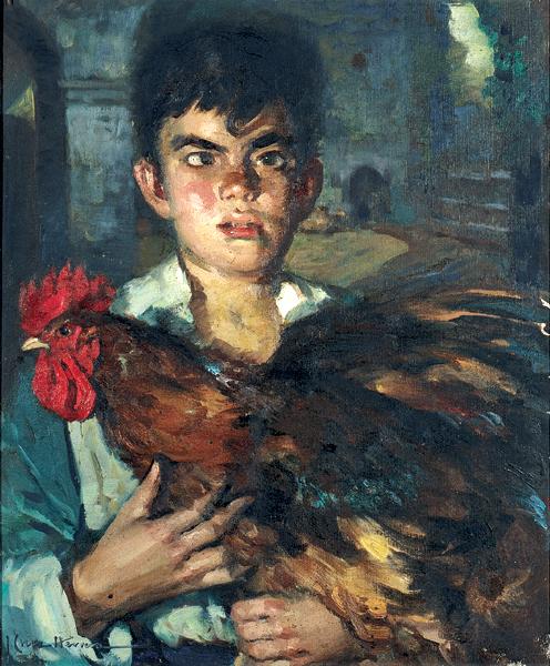 El niño del gallo