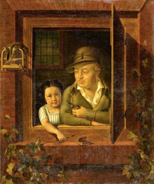 Emmanuel Streckeisen With His Great Grand-daughter Adèle Passavant