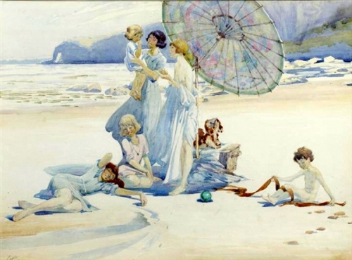 Family On A Beach