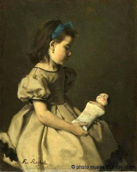 Fillette à la poupée