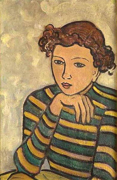 Girl In A Striped Blouse
