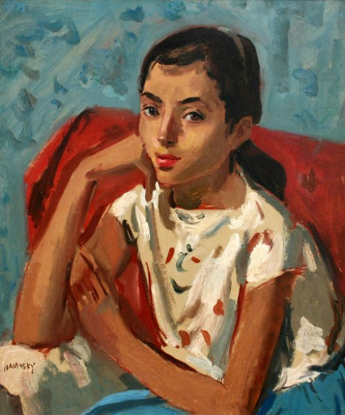 Girl Seated On A Chair