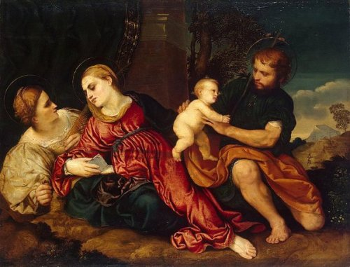 Holy Family With St. Catherine