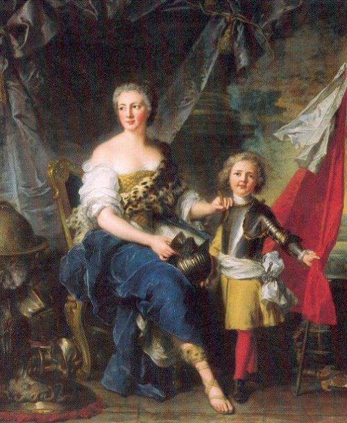 Mademoiselle de Lambesc As Minerva, Arming Her Brother The Comte de Brionne