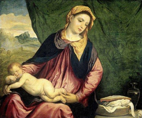 Madonna With Sleeping Child