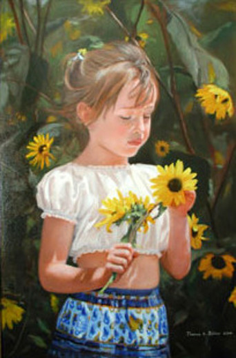 Mary Among The Sunflowers