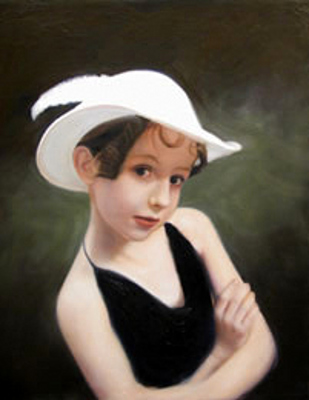 Mary In A White Hat