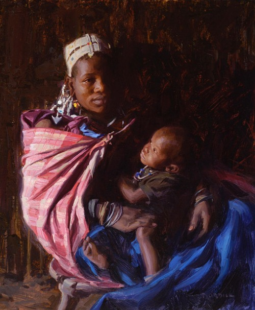 Massai Mother And Child