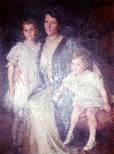 Mrs. Oswald Garrison Villard with Daughter And Son