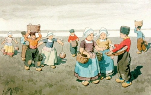Natives Of Volendam In Summer