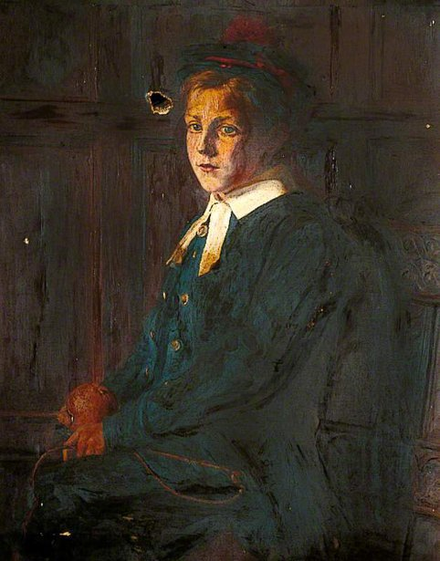 Portrait Of A Boy In The Costume Of The Ancient Bluecoat  School, Maidstone