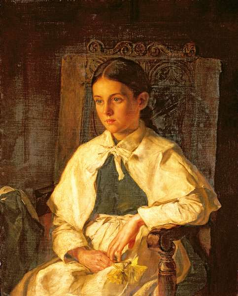 Portrait Of A Girl In The Costume Of Dr.Woodward's School, Maidstone