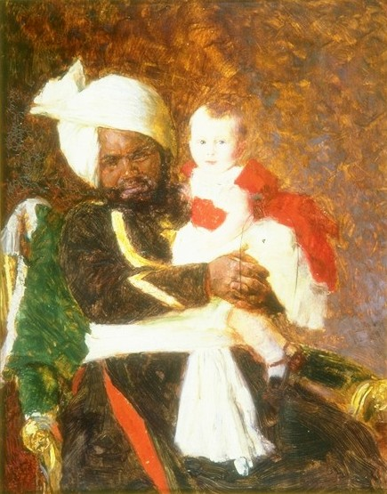 Prince Alexander of Battenberg With Muhammed Bukhsh