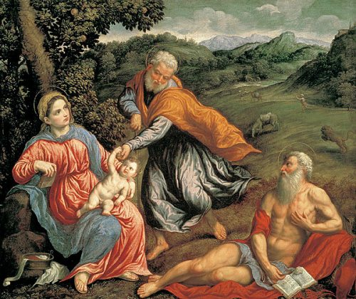 Rest After The Flight Into Egypt With St. Jerome