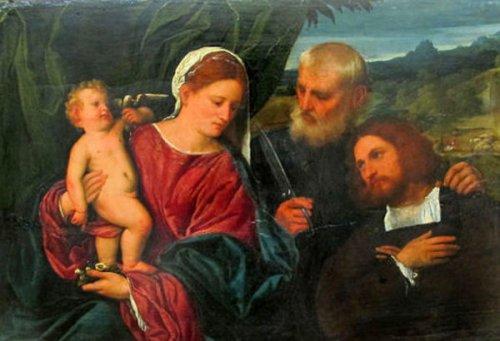 Sacra Conversazione con Sant'Omobono e donatore