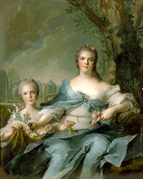 The Duchess Of Parma And Her Daughter Isabella