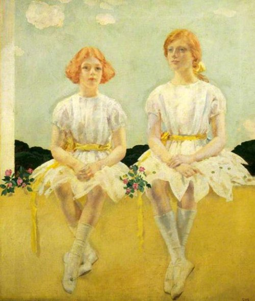 Two Girls Seated - Diana And Sarah Churchill