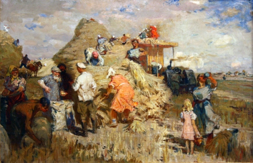 Wheat Threshing