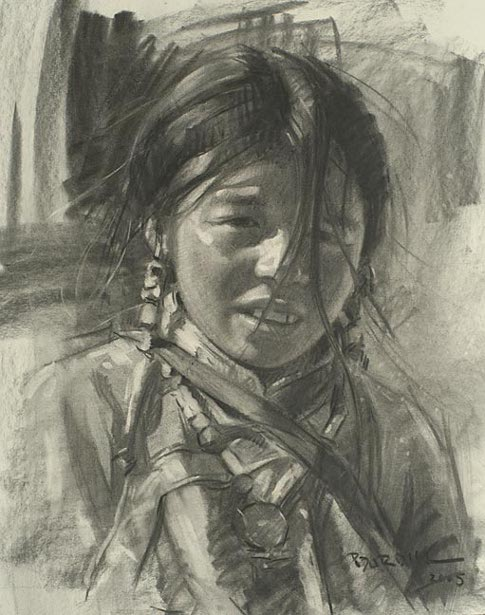 Young Girl, Tibet