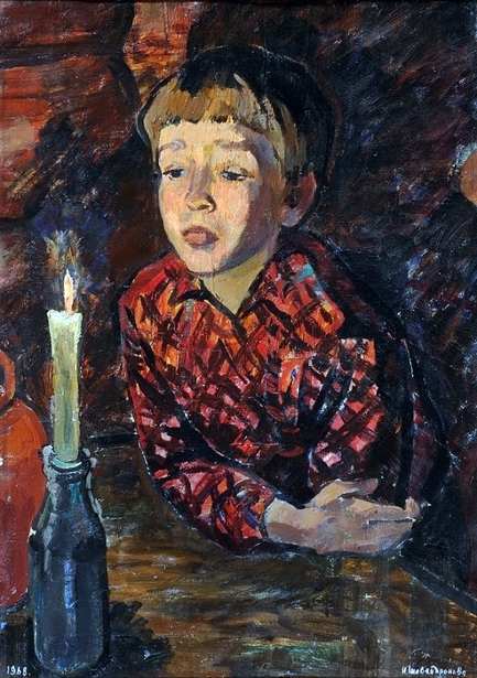 A Boy With A Candle