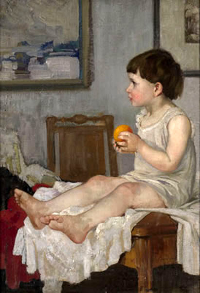 A Child With An Orange
