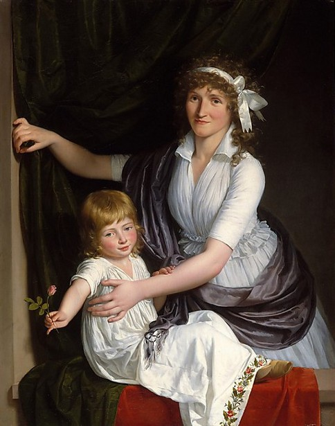 A Mother And Child (the attribution of the painting is uncertain)