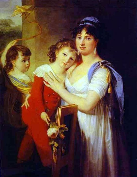 Anna Muravyova-Apostol With Her Son Mathew And Her Daughter Catherine