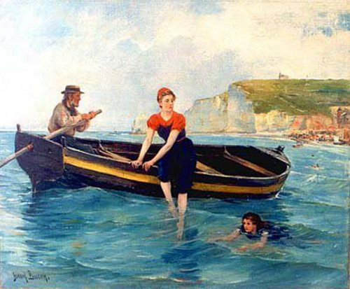 Bathers At Etretat