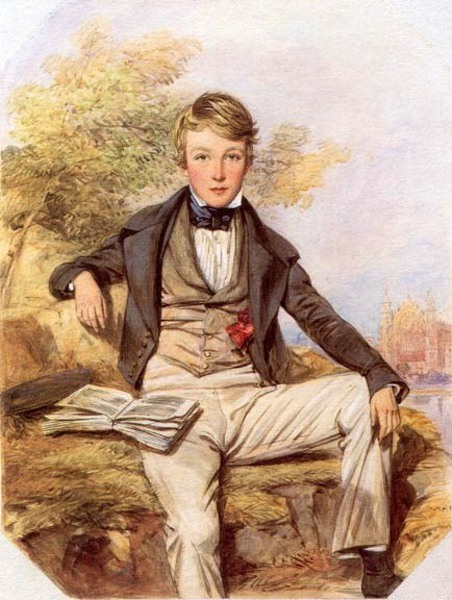 Benjamin Gibbons, Son Of John Gibbons, With A View Of Eton College Beyond